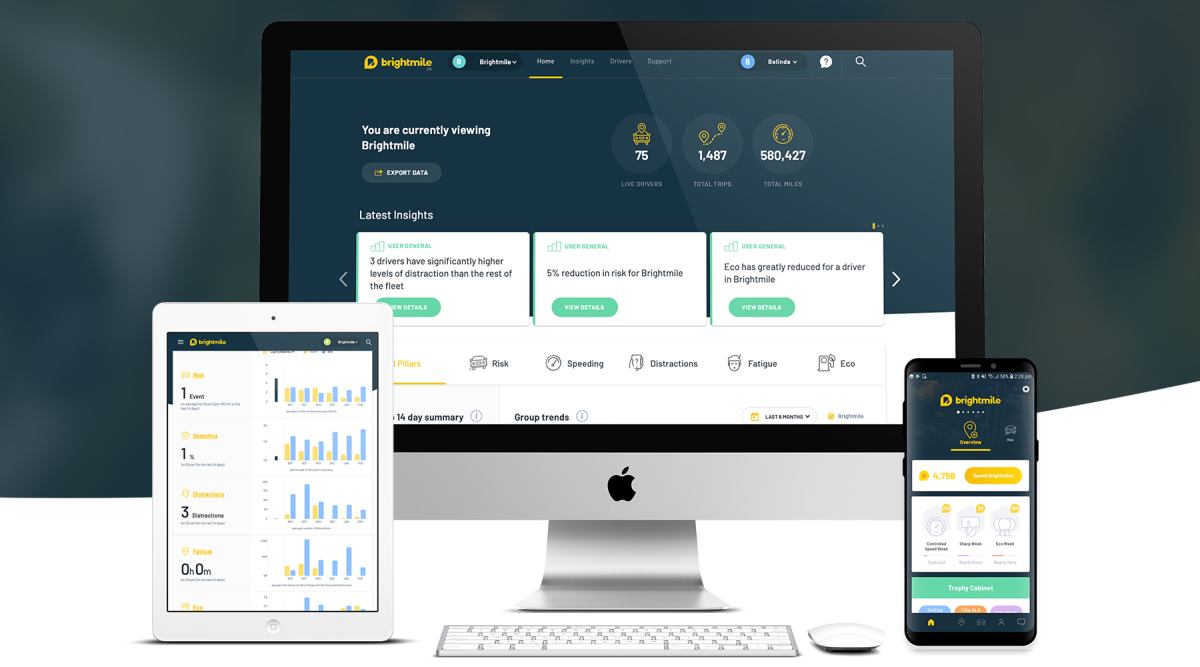 Brightmile app and dashboard